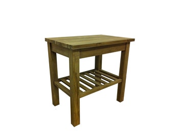 Handmade Solid 'Kerembon' Reclaimed Teak Wood Wash Stand. Fully eco-friendly with free delivery!