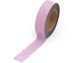 Glitter Tape Light Pink Washi 15mm x 10m