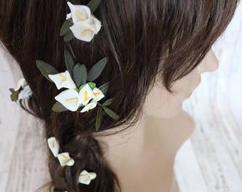 Flower Hair Pins - Calla