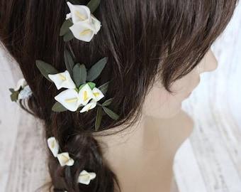 Flower Hair Pins - Calla