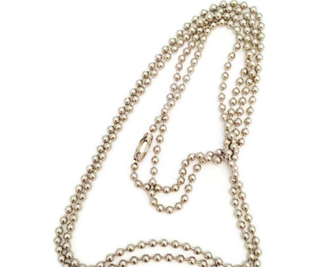 30 inch Ball Chain Necklace- Dog Tag Necklace Chain-Dog Tag Chain- 30 inch Chain Necklace To Use For Pendants