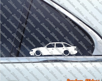 2X Low car outline stickers - for Ford Scorpio MK1, 5-door hatch