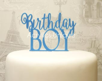Birthday cake topper, acrylic celebration cake topper. Various colours available.