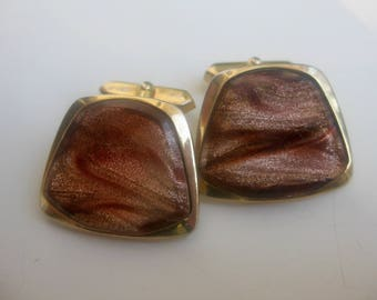 old, marbled glass cufflinks