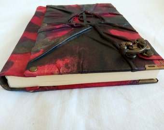 Handmade Leather Diary with Anchor Emblem/Notebook with antique C Hook, Journal, Daybook, Memorybook Gift