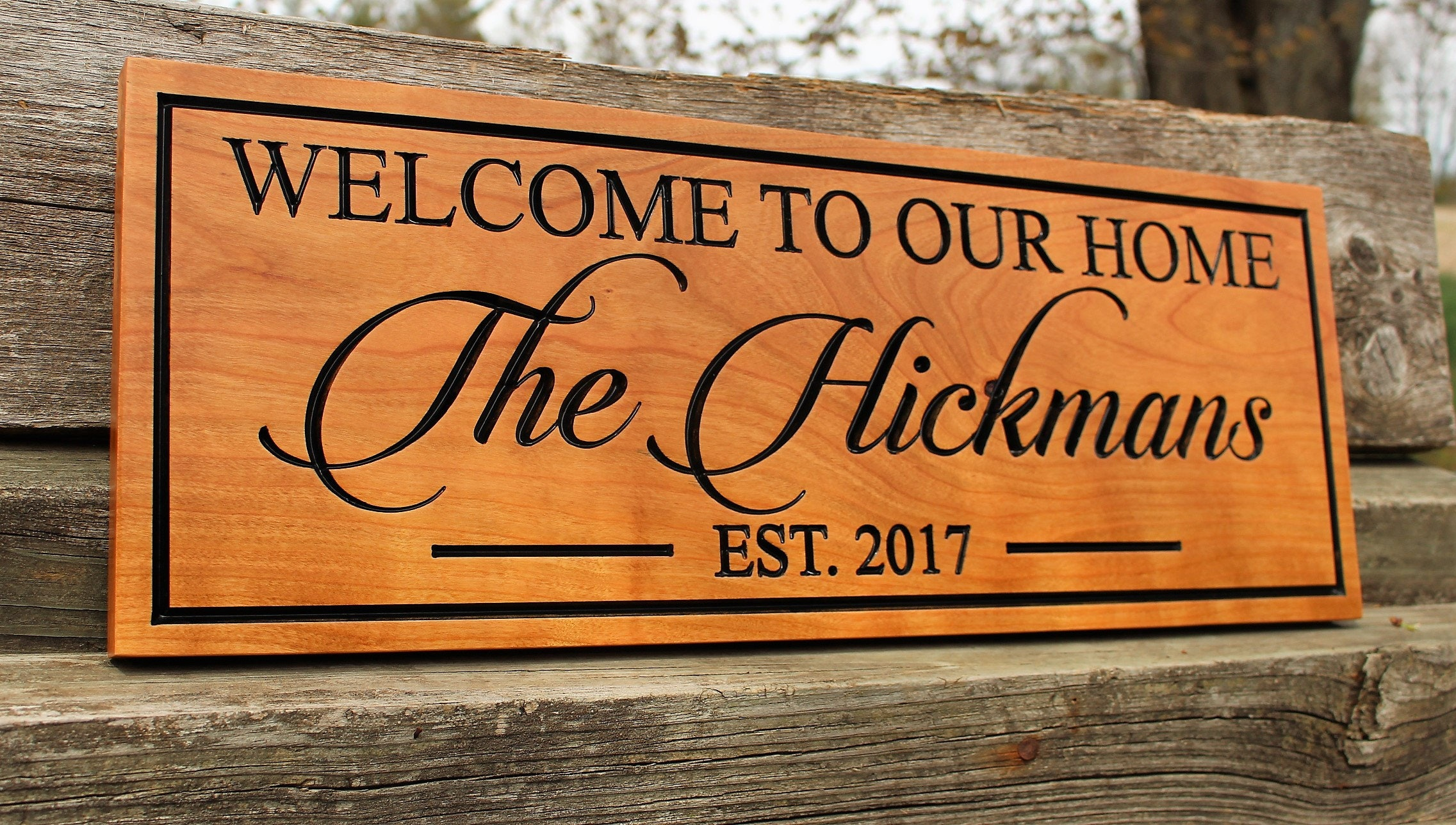 Welcome sign wood-personalized front door welcome sign ...