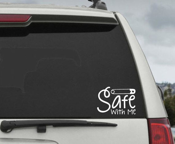 Safety Pin  Safe with Me  Car Decal -  #safetypinproject  Laptop Decal
