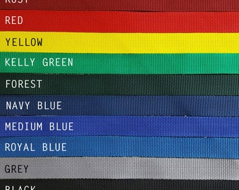 Custom Color, Breakaway Dog Collar, Safety Collar, Polypropylene Webbing