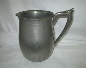 Vintage Art deco Pewter Water Milk Pitcher Ray Silver Co. USA Pewter #475