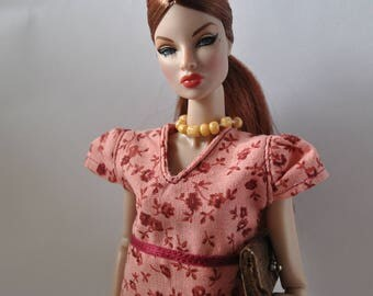 Burgundy Pants and BurgundyTop Outfit Handmade Fashion Doll Clothes This is not a product or Endorsement of Mattel Barbie Clothes  ®   #28