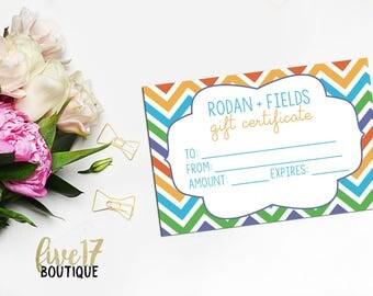 Rodan and Fields Chevron Gift Certificate - INSTANT DOWNLOAD