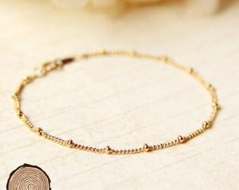 Dew Drops Bracelet ( 14k Gold / Sterling Silver / Rose Gold)