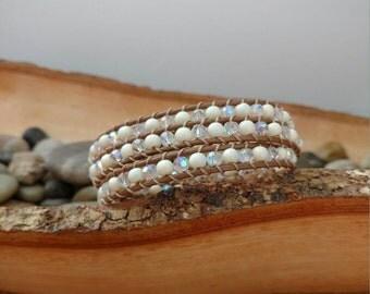 Cream & Sugar Triple Wrap Bracelet