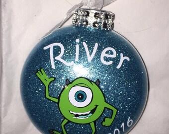 Personalized Mike Wazowski Monsters Inc ornament