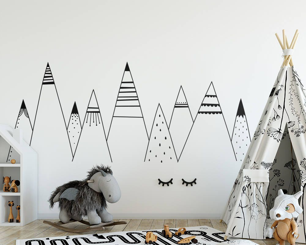 Woodland wall decals images home wall decoration ideas patterned mountains wall decal mountain decal woodland zoom amipublicfo images amipublicfo Choice Image