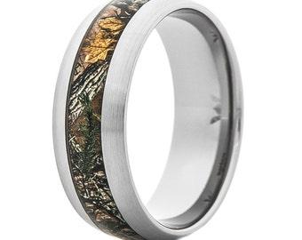 Men's Camo Realtree Xtra Titanium Ring