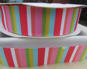 Tropical Vertical Stripe Ribbon