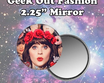 Zooey Deschanel Pocket Mirror