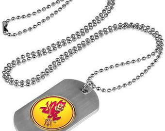 Arizona State Sun Devils Stainless Steel Dog Tag Necklace