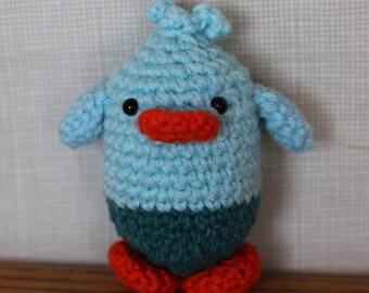 Handmade Amigurumi Crochet Little Blue Chick