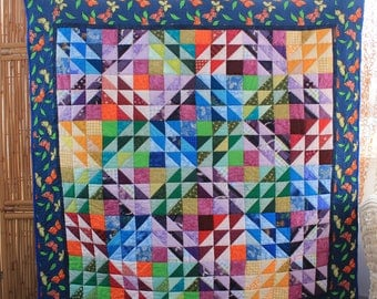Crystal Kaleidoscope - Wall Hanging & Crib Quilt - Multicolour