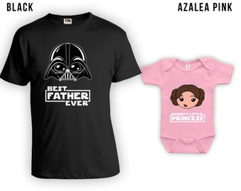 Matching Father Daughter Shirts, Best Dad Ever TShirt, Daddys Little Princess, Baby Bodysuit, Matching Family Shirts, Fathers Day CT-844-843