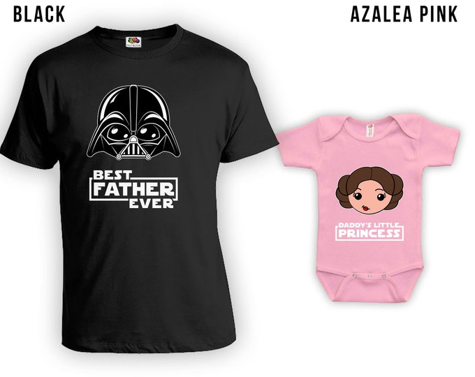 Featured listing image: Matching Father Daughter Shirts, Best Dad Ever TShirt, Daddys Little Princess, Baby Bodysuit, Matching Family Shirts, Fathers Day CT-844-843