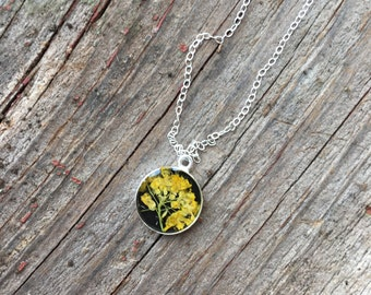 Delicate Yellow Wildflower Necklace