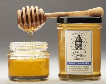 Wild Flower Honey with Honeycomb (2 jars)