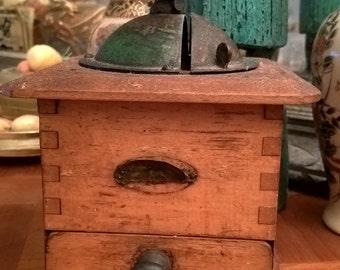 Vintage hand Made coffee grinder in France