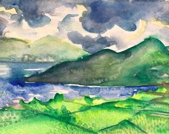 Toward Danang - original watercolor painting