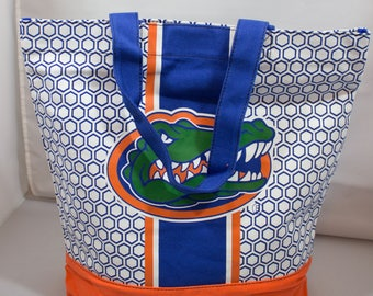 Tote Bag-Beach Bag-Florida Gators-University of Florida-Orange-Blue-Travel-Luggage-Florida-College Football-SEC-Football