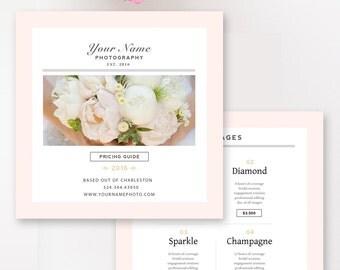 Wedding Photographer Marketing Templates, Photography Pricing Template, Photography Template - INSTANT DOWNLOAD