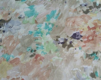 Floral Watercolor Soft Knit Fabric 2.5 Yards