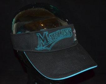 Retro Florida Marlins Adjustable Visor Cap Hat (One Size Fits All)