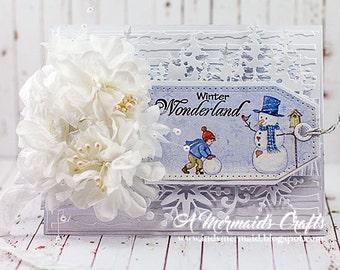 Handmade Winter Wonderland Greeting Card