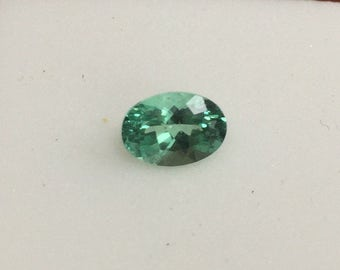 7x5 mm sparkly blue-green apatite