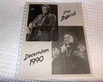 JOHNNY CASH International Fan Club Book The Legend 1990 June Curtis Alma Todd