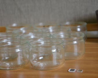 12 Eco-friendly Glass Pots / Glass Jars for Soy Candles [12 pieces per lot]