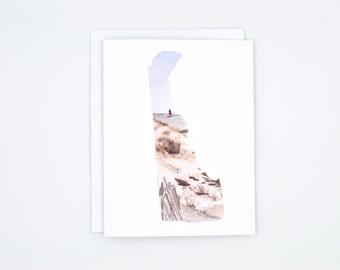 Delaware Notecard - Delaware Gift - Delaware Greeting Card - Watercolor Card - Delaware Beach - Delaware State Art - Blank Greeting Card