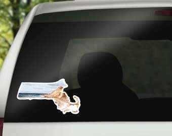 Martha's Vineyard - Massachusetts State Decal- Massachusetts Sticker - cool laptop sticker - home state decal - car decal - vinyl decal