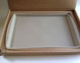 "Vintage Pampered Chef Large Stoneware Bar Pan New 11"" x 17"""