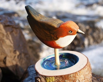 Gift for Nature Lover | Birds | Dipper | Wood | Carved | Nature