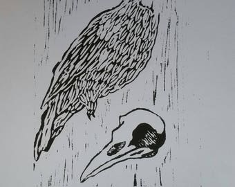 Crow Relief Print