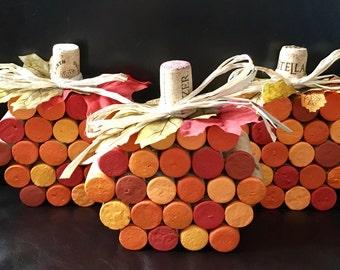 Wine Cork Pumpkins