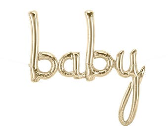 baby script letter balloons baby shower decor balloon banner kit