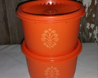 Vintage Tupper ware containers with lids