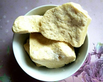 Raw Unrefined Cocoa Butter - Natural Skin Care Ingredient - DIY Tool for Lotions, Soaps, Conditioner, Hair Care, Skin Care