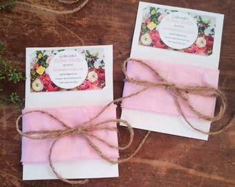 Handmade Silk Ribbon, pink, blush