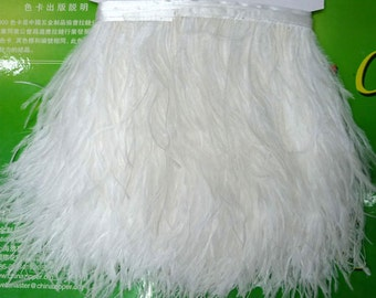 10 Yards/Lot Height 5-6inch red Ostrich Feather fringe Ostrich feather Trimming Feather fringe